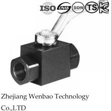 De alta presión Pn300 1PC de acero forjado válvula de bola hidráulica