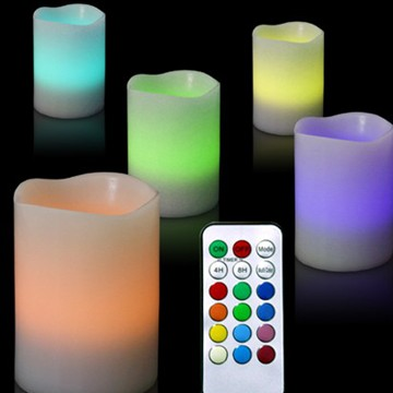 led pillar flameless candle