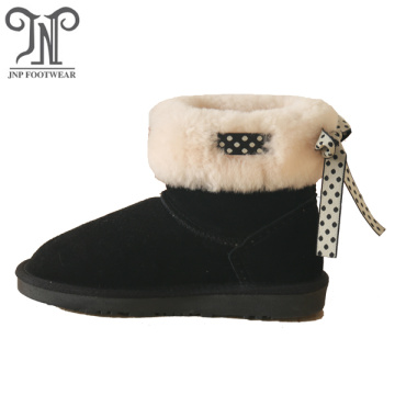 Flat winter warm shoes fur boots for women