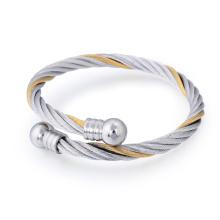 Personnalité en acier inoxydable plaqué hommes bracelet bijoux printemps manchette bracelet