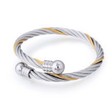 Personality Stainless Steel Plated Men Bracelet Jewelry Spring Cuff Bangle