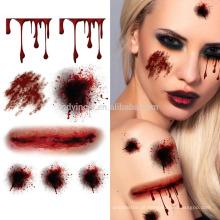 Halloween novo que Scaring etiquetas provisórias do tatuagem
