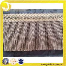 Zhejiang textiles accesorios de 100% rayón sofá lingote de franja