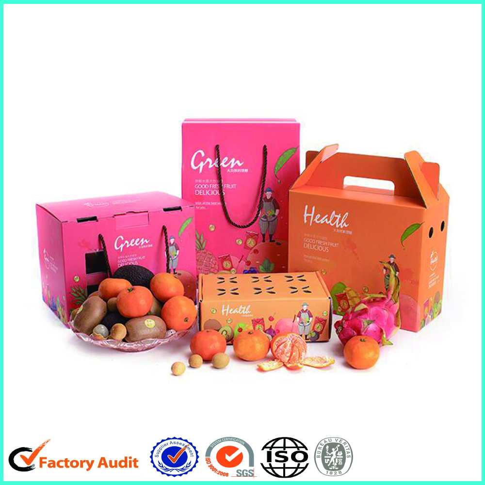 Colorful Fresh Fruit Cardboard Cartons Boxes