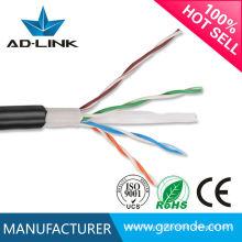 305m 4pr 23awg cable de red al aire libre del utp cat6 de la envoltura doble