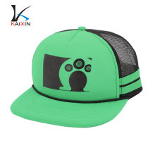 Custom Mesh Embroidery Patch Trucker Cap/Flat Brim Trucker Hat/Custom Rope Snapback Hat