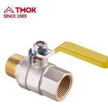 Pressure PN16 2 vías Válvula de bola de gas de latón de alta calidad para gas y agua con manija de palanca larga dn25