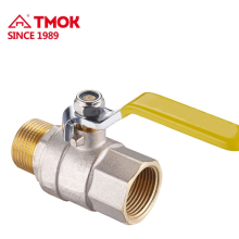 Pressure PN16 2 way High quality brass gas ball valve for gas and water with long lever handle dn25