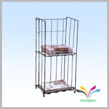 Kundenspezifische Design Metall Draht Zeitung Display Stand