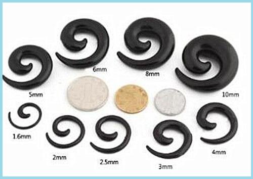 Ear Spiral size