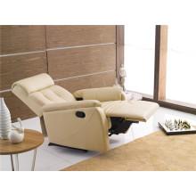 Sofá reclinável elétrico do sofá do couro genuíno do couro (773)