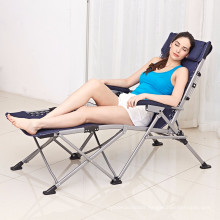 Kingear Adjustable folding bed and beach chair luxury office noon folding chair and bed