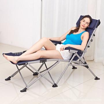 Kingear réglable lit pliant et chaise de plage bureau de luxe midi chaise pliante et lit