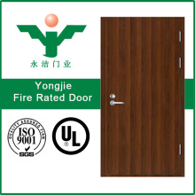 UL Certified Fire Rated Glazed Metal Door or Solid Wooden Fire Door