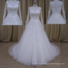 Factory Outlet See Through Tulle Sweetheart Satinwedding Dress