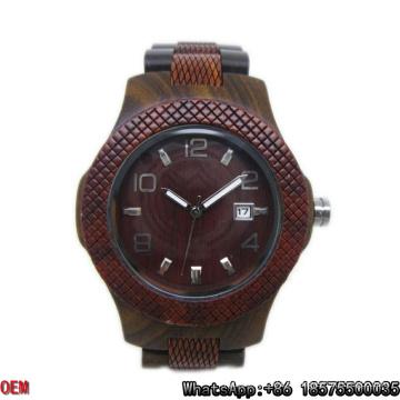Montre en bois de haute qualité montre à quartz Hl28