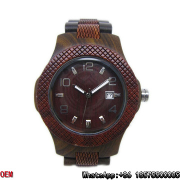 Reloj de cuarzo con reloj de madera de alta calidad HL28