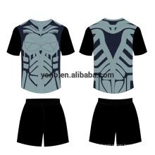 Em branco novo design de futebol jersey kit atacado uniforme de futebol uniforme escolar mais popular