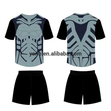 пустой новый дизайн футбол Джерси комплект футбольной формы оптом самые популярные школьная форма