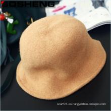Nuevo vintage de las mujeres del estilo simple y de moda sombrero de lana suave