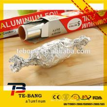 Papier d'aluminium ménager pour enveloppement alimentaire pour la cuisine pour l'emballage alimentaire