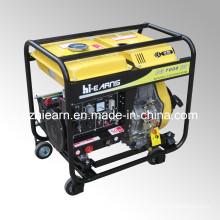 Four Wheels Diesel Welding Generator Set (DG7000EW)