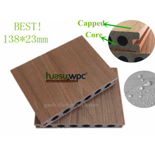 138 * 23 Millimeter mit einer Kappe bedeckter Co-Extrude hölzerner zusammengesetzter Belag für im Freien