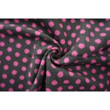Tecido de lã Lã Flecky Pink & Black