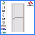 JHK-P01 cheap standard size of white plastic  pvc flush  interior door