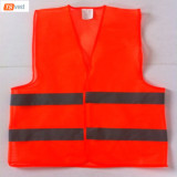 100%polyester 60gsm knitted fabric Security Guard Walking Cheap Reflective Vest