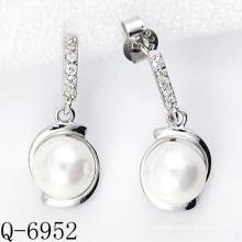 2015 Neueste Styles Zuchtperlen Ohrringe 925 Silber (Q-6952)