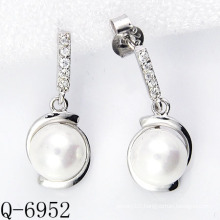 2015 Latest Styles Cultured Pearl Earrings 925 Silver (Q-6952)