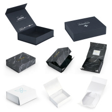 Custom Magnet Folding Paper Flat Pack Packaging Box Luxury Magnetic Gift Box with Magnet Closure