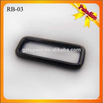 RB03 retângulo personalizado tamanho diferente saco de bagagem fivela de metal fivela quadrada fornecedor