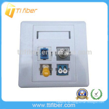 4-Port SC / ST / FC / LC Hybrid-Faseroptik-Faceplate / Wandplatte