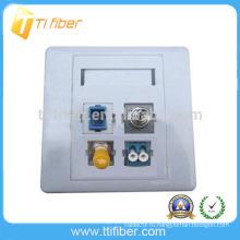 4-портовая гибридная оптоволоконная лицевая панель / настенная панель SC / ST / FC / LC
