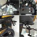 Titular suporte de placa de licença da motocicleta cnc led light para gsxr 600 750 1000 cbr 250r 600rr 1000 rr