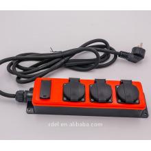 16A 3 pôles 110V 14M rallonge de câble de conversion avec 16A / 230V ~ IP44 CEE fiche et douille H05VV-F / H05RN-F 3G1.5