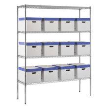 Étagères en fil de rangement décoratif multi-niveaux, étagères métalliques, étagère de rangement (HD186063A4C)