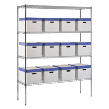 Multi Tiers Decorative Storage Wire Shelving, Wire Shelves, Storage Shelf (HD186063A4C)