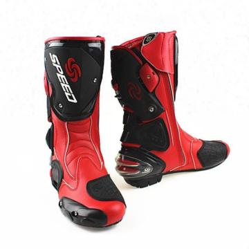 Botas de motocicleta de inverno meio botas Motocross Off Road couro