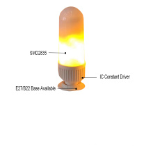 9w holiday decorative natural warm fire simulated led flame bulb