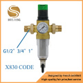 "G1/2"" 3/4"" 1"" Front Filter for Water Filter System X830"