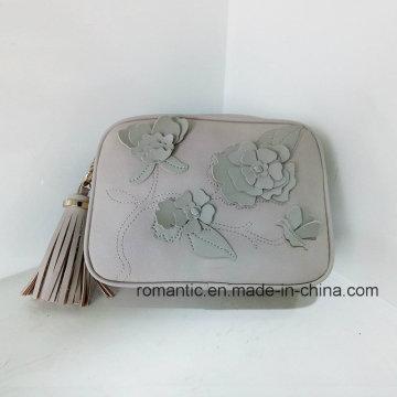 Sacs à main en caoutchouc en cuir de fleur PU de nouvelle enchère Lady New (NMDK-033101)