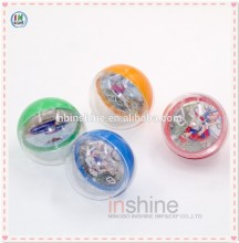 Colorful paper cards inside plastic toy ball , pit ball , sport toys