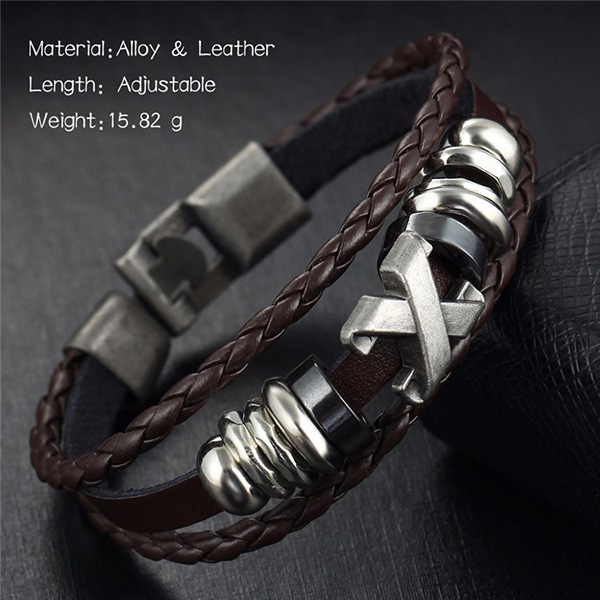 Genuine Leather Bracelet Handmade
