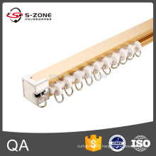 Ceiling mounted aluminum straight curtain track with accessories