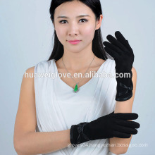 Knitted lining ladies fashion sheep suede winter leather gloves
