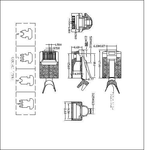ATRP8P8C6T-XXX-003 FTP CAT6 4UP 4DOWN SHORT BODY