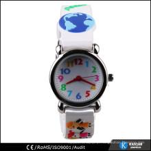 Kids japan movement quartz watch silicone 3D